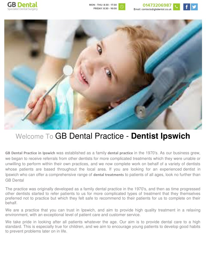 welcome to gb dental practice dentist ipswich n.