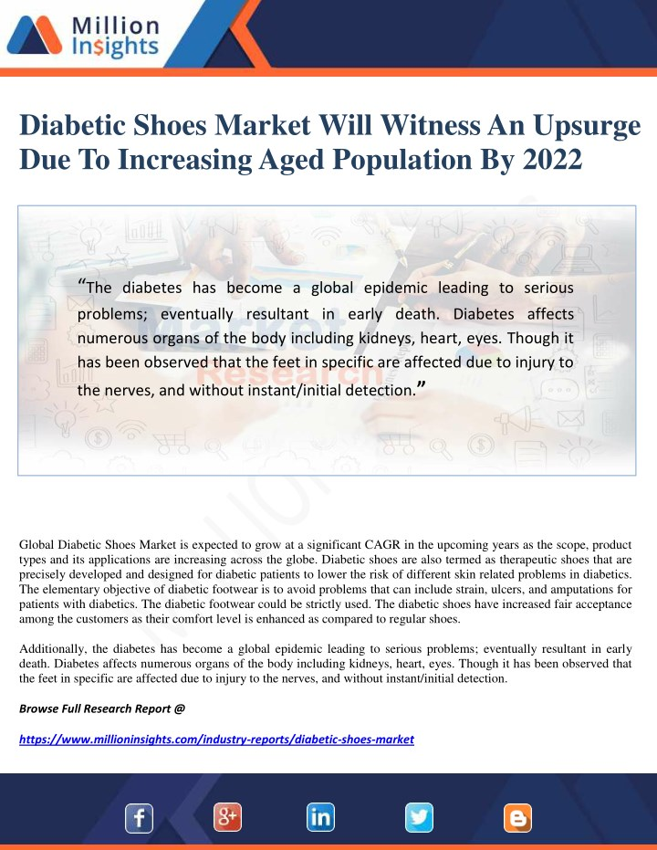 diabetic shoes market will witness an upsurge n.