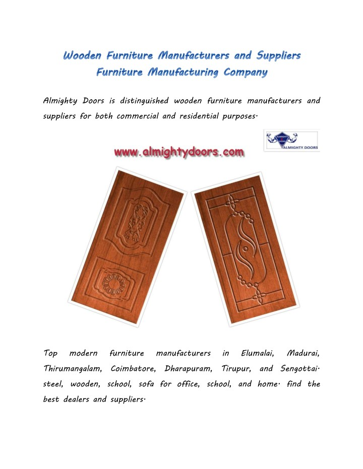 almighty doors is distinguished wooden furniture n.