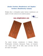 almighty doors is distinguished wooden furniture