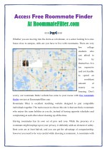 access free roommate finder at at roommatefilter