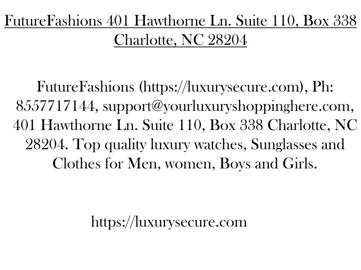 futurefashions 401 hawthorne ln suite n.
