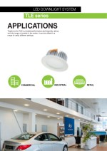 led downlight system tle series applications