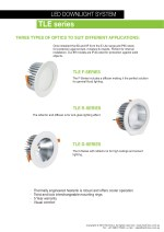 led downlight system tle series