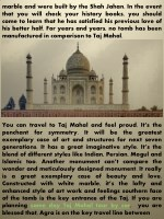 marble and were built by the shah jahan