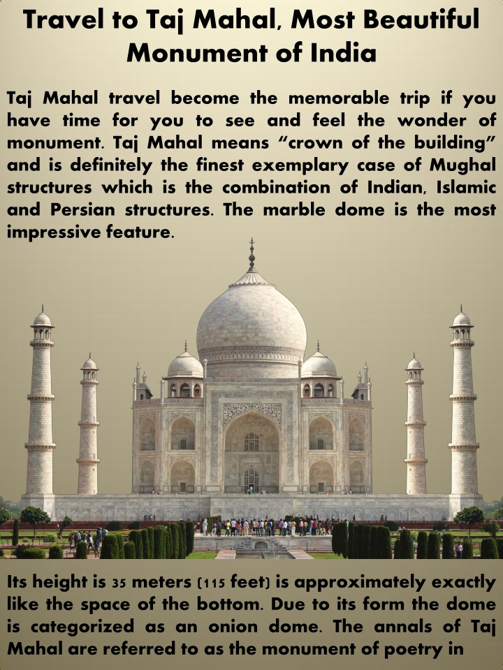 travel to taj mahal most beautiful monument n.