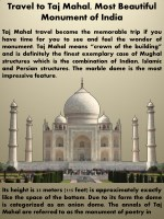 travel to taj mahal most beautiful monument