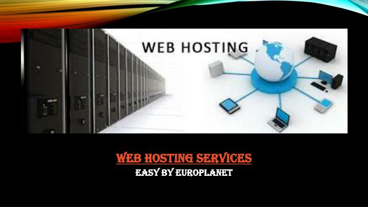 web hosting services n.