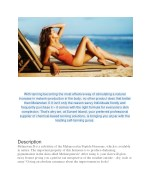 with tanning becoming the most effective