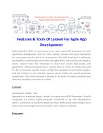 features tools of laravel for agile