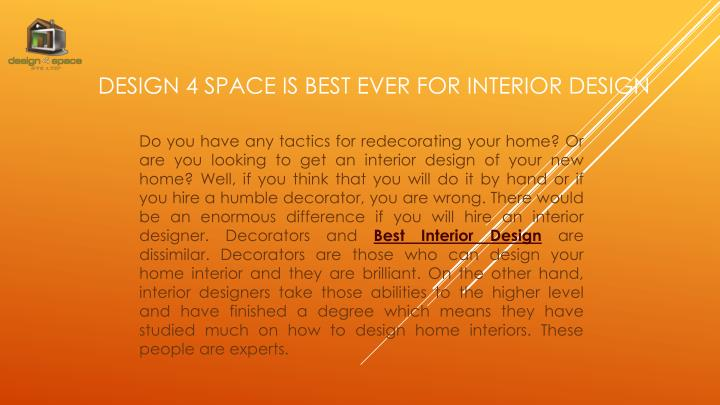 design 4 space is best ever for interior design n.