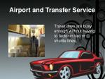 airport and transfer service