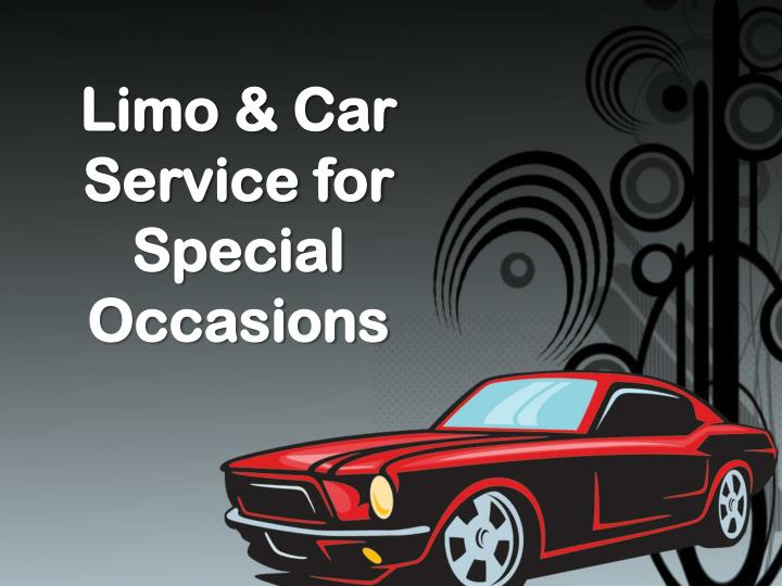limo car service for special occasions n.
