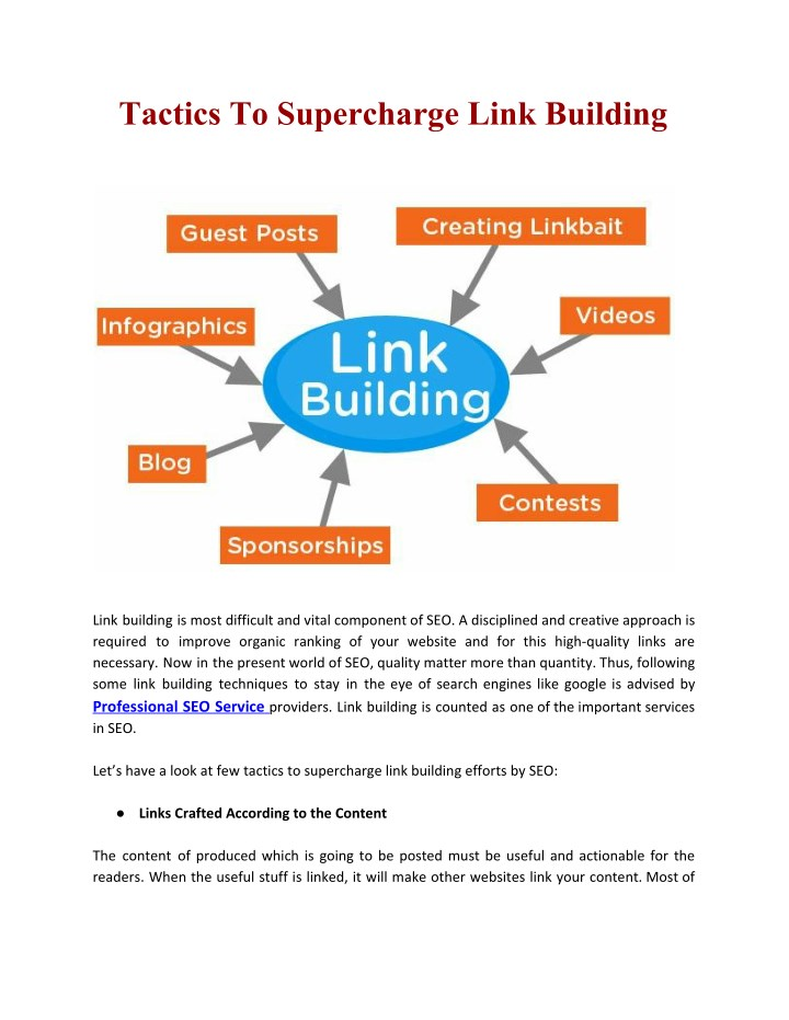 tactics to supercharge link building n.