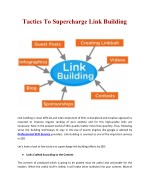 tactics to supercharge link building