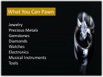 what you can pawn