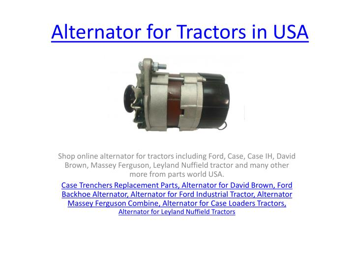 alternator for tractors in usa n.