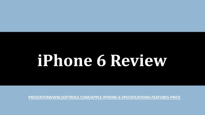 iphone 6 review n.