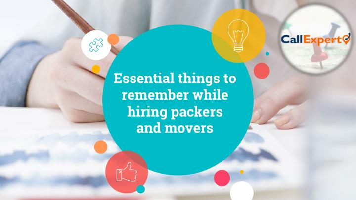 essential things to remember while hiring packers and movers n.