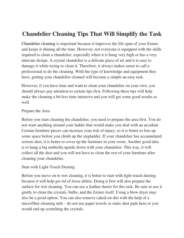 chandelier cleaning tips that will simplify n.