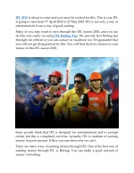 ipl 2018 is about to come and you must be excited
