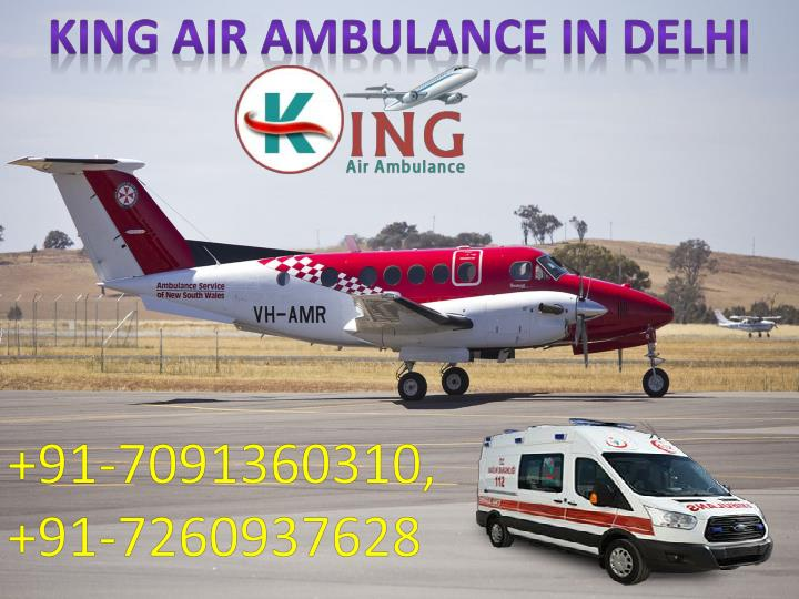 king air ambulance in delhi n.