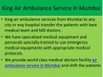 king air ambulance service in mumbai