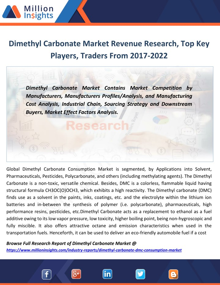 dimethyl carbonate market revenue research n.