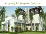 property for lease on gurgaon