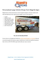 personalized large vehicle wraps from magnify
