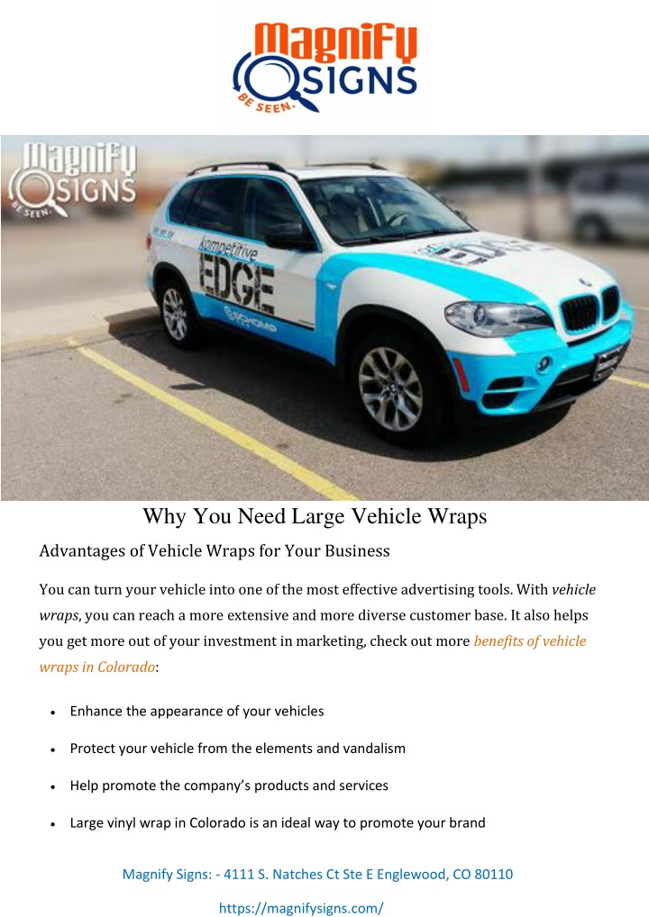 why you need large vehicle wraps n.
