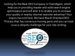 looking for the best seo company in chandigarh