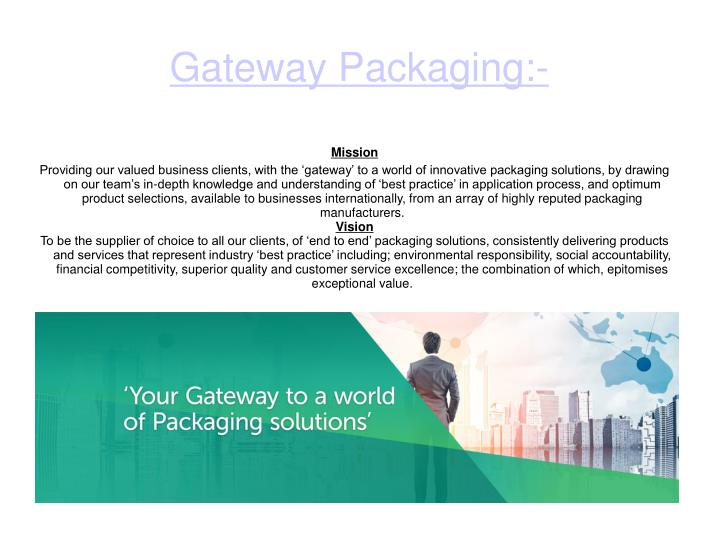 gateway packaging n.