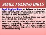 small folding bikes