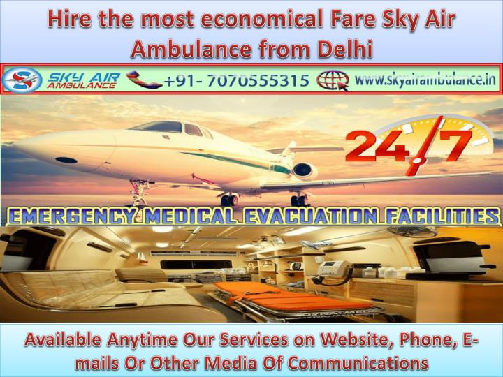 hire the most economical fare sky air ambulance n.