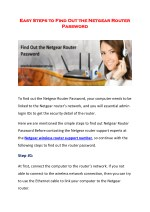 easy steps to find out the netgear router easy