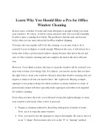 learn why you should hire a pro for office window