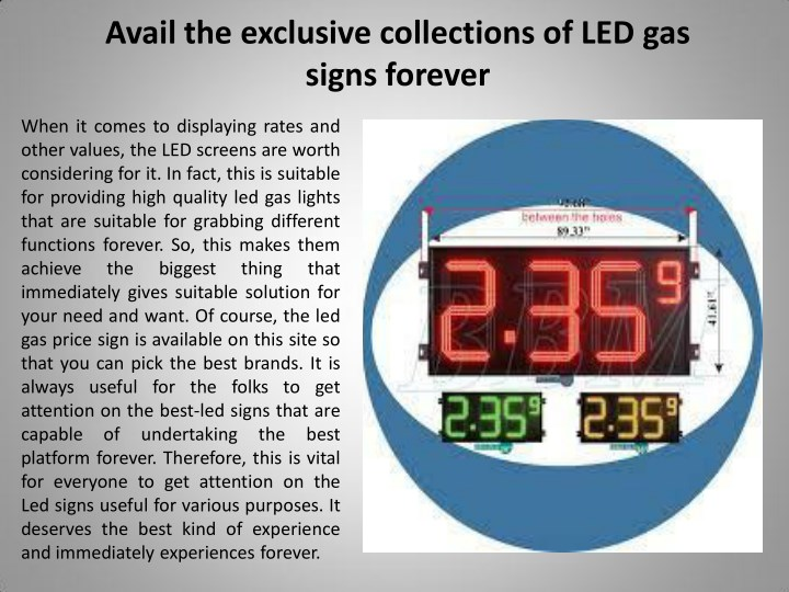 avail the exclusive collections of led gas signs n.