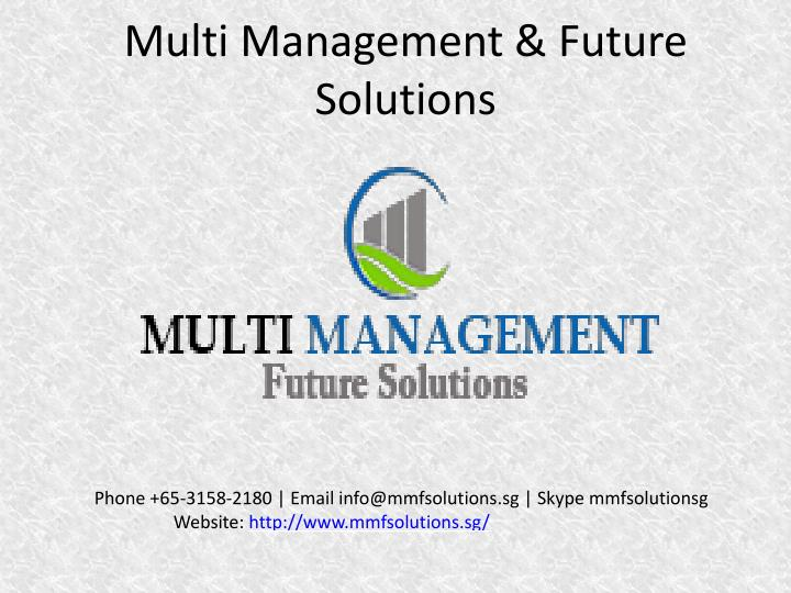 multi management future solutions n.