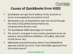 causes of quickbooks error h202