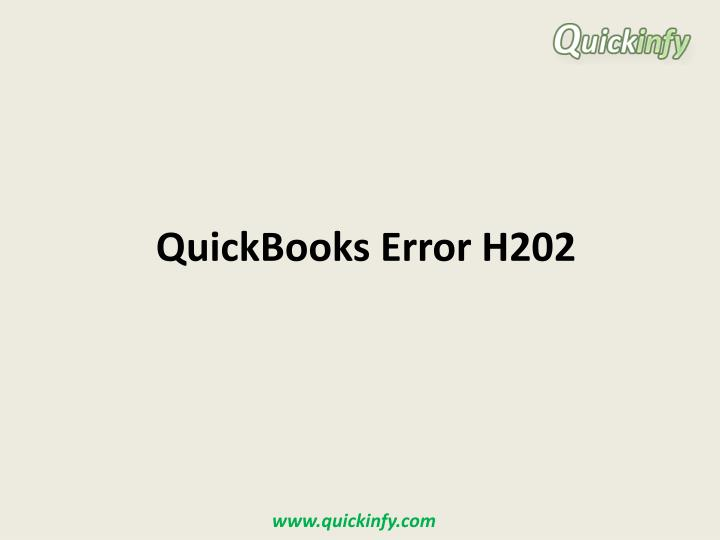 quickbooks error h202 n.