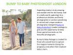 bump to baby photoshoot london