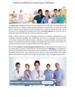 health care and medical recruitment agency
