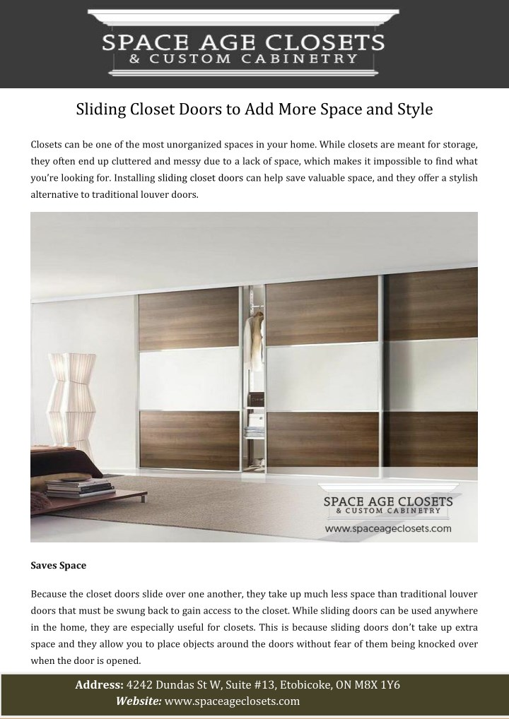 sliding closet doors to add more space and style n.
