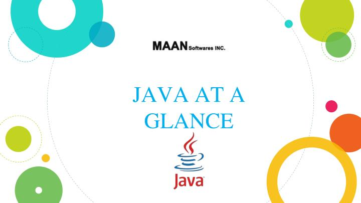 java at a glance n.