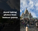 avoid taking photos from lookout points