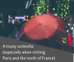 a trusty umbrella especially when visiting paris