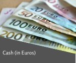 cash in euros