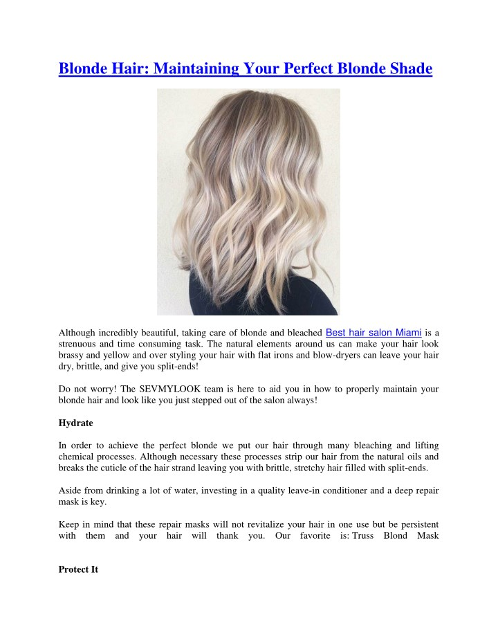 blonde hair maintaining your perfect blonde shade n.