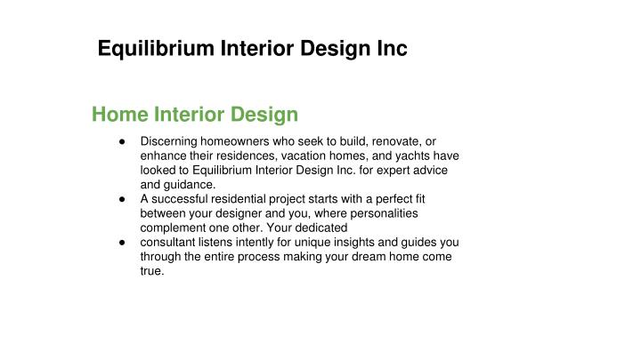 equilibrium interior design inc n.